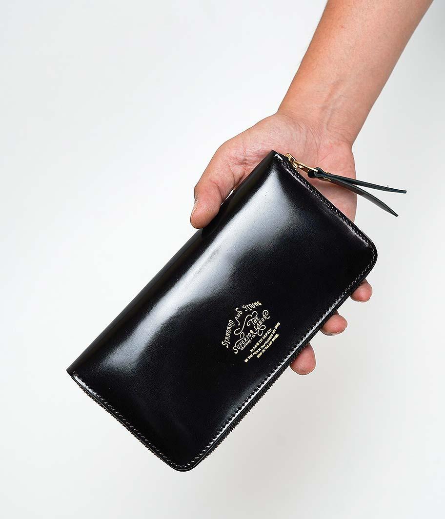 THE SUPERIOR LABOR Cordovan Zip Long Wallet