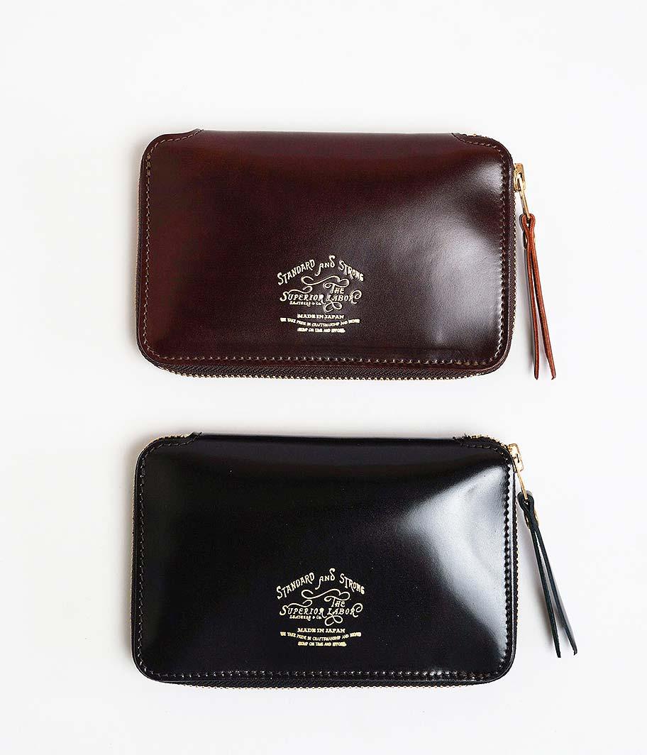 THE SUPERIOR LABOR Cordovan Zip Middle Wallet