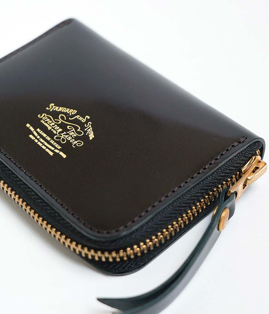 THE SUPERIOR LABOR Cordovan Zip Small Wallet