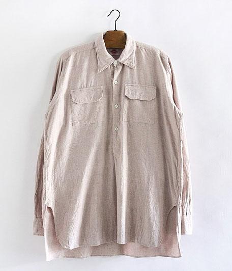 ビンテージユーロフランネルプルオーバーロングシャツ