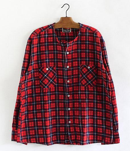 ノーカラーライトフランネルシャツ [remake]