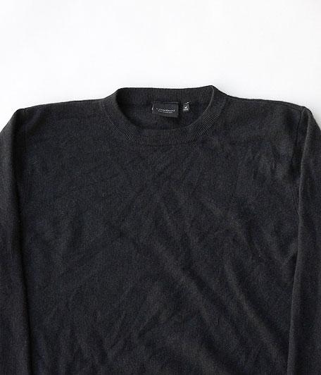 カシミアクルーネックセーター [Overdyed Black]