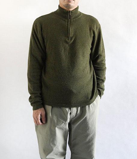 オールドカシミアハーフジップセーター