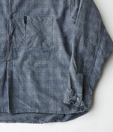 ノーカラープルオーバーフランネルシャツ [remake]