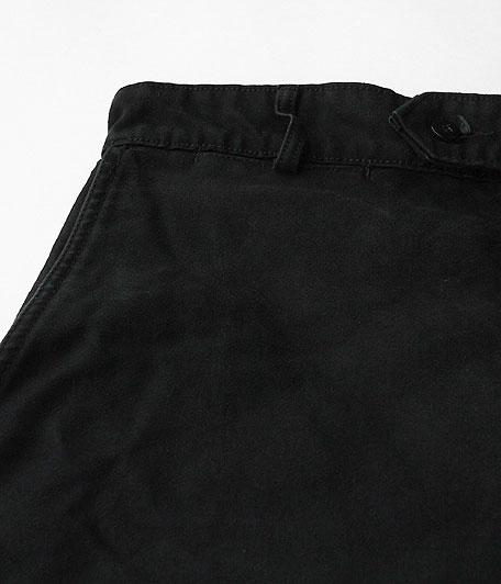 ブラックモールスキンフレンチワークパンツ