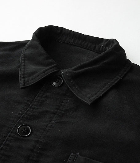 LE MONT ST MICHEL ブラックモールスキンフレンチワークジャケット