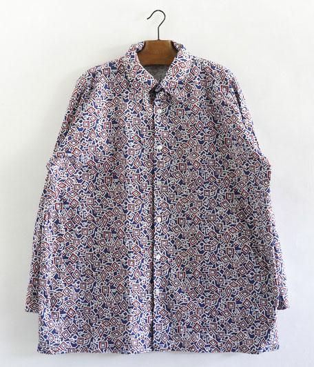 70's ジオメトリックパターンシャツ