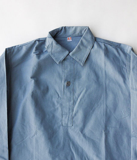 70's〜80's スウェーデン軍プルオーバーロングシャツ [Dead Stock]