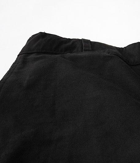 50's ブラックモールスキンフレンチワークパンツ  [One Wash]
