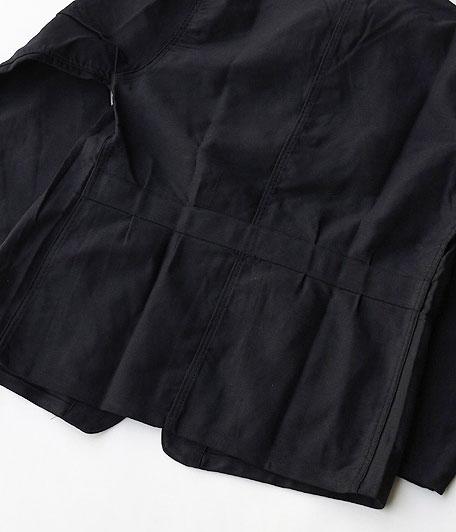 MONT KEMMEL ブラックモールスキンフレンチワークジャケット[Dead Stock]
