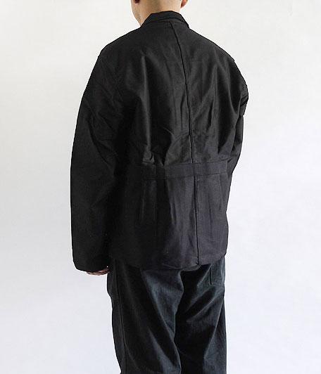 Adolphe Lafont ブラックモールスキンフレンチワークジャケット[Dead Stock]