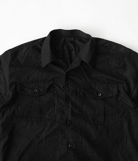 ユーロイタリアンカラーワークシャツ [Overdyed Black]