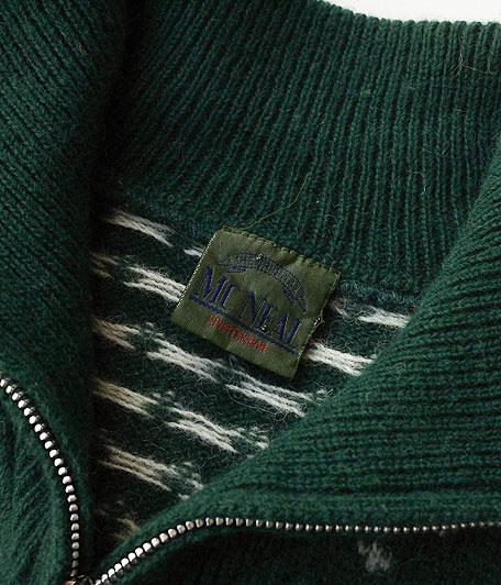 オールドハーフジップノルディックセーター