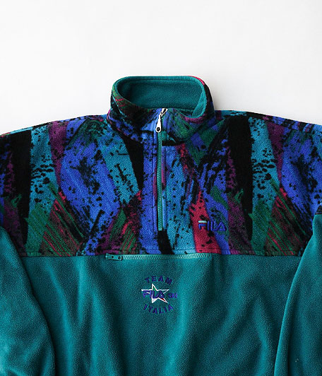 90's FILA フリースプルオーバー