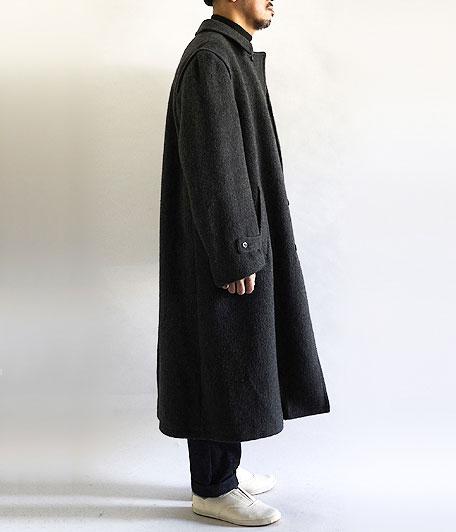 ユーロウールフランネルステンカラーコート