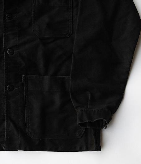 60's ブラックモールスキンフレンチワークジャケット