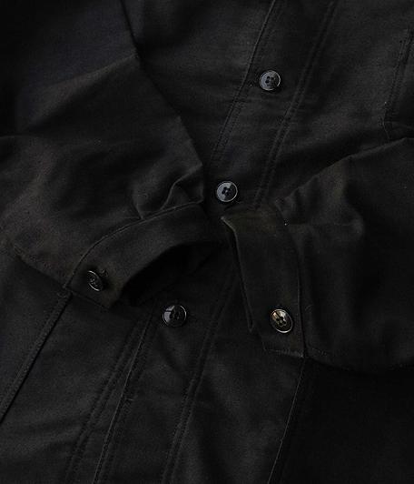 50's ブラックモールスキンフレンチワークジャケット [Dead Stock]