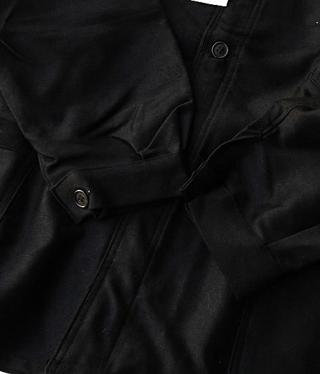 ブラックモールスキンフレンチワークジャケット [Dead Stock]