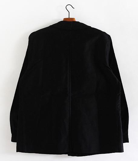 70's ブラックモールスキンフレンチワークジャケット [Dead Stock]