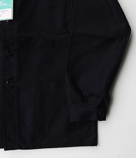 70's ネイビーモールスキンフレンチワークジャケット [Dead Stock]