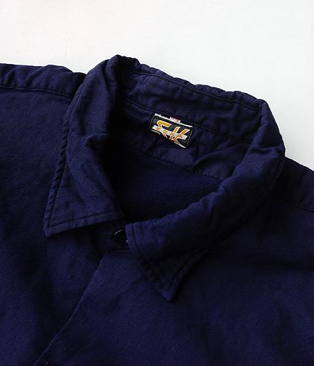 ビンテージフレンチプルオーバーロングシャツ [Dead Stock / One Wash]