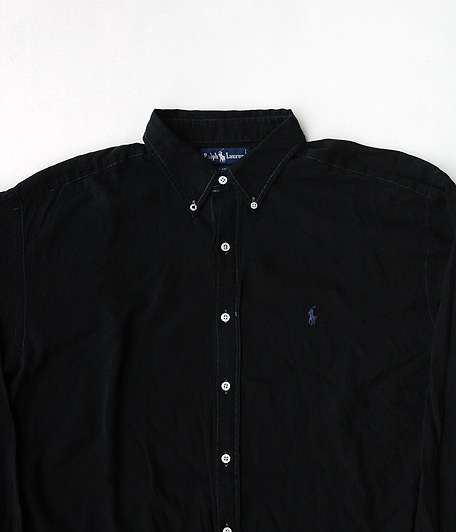 Ralph Lauren ロングスリーブボタンダウンシャツ [remake / Overdyed Black]