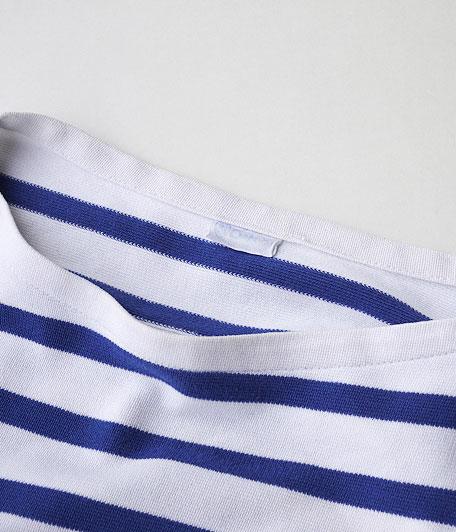 ORCIVAL ボーダーボートネックTシャツ