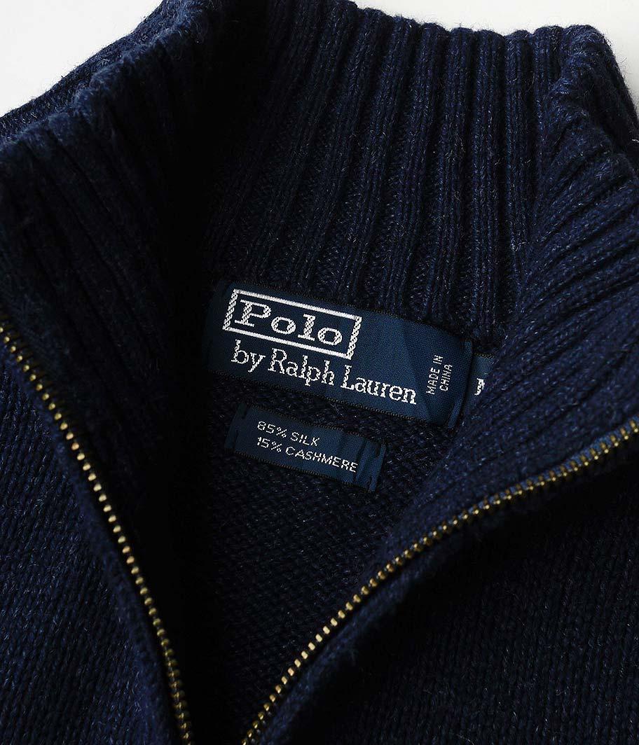 Ralph Lauren ハーフジップカシミアセーター