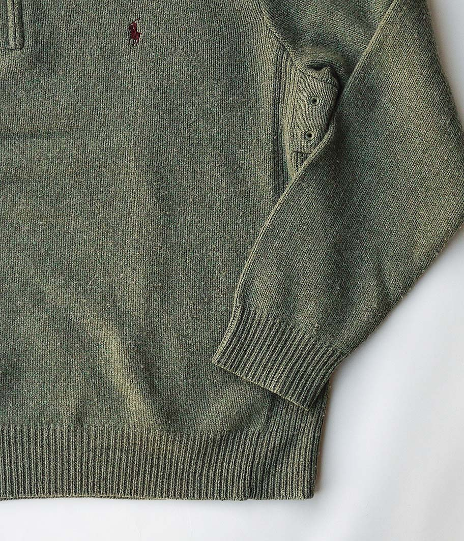 Ralph Lauren ハーフジップウールセーター