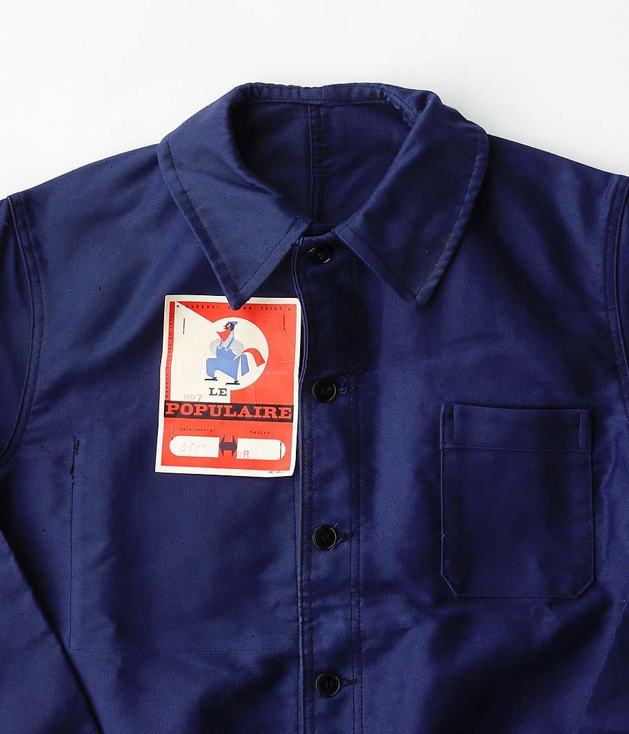 50's LE POPULAIRE モールスキンフレンチワークジャケット [Dead Stock]