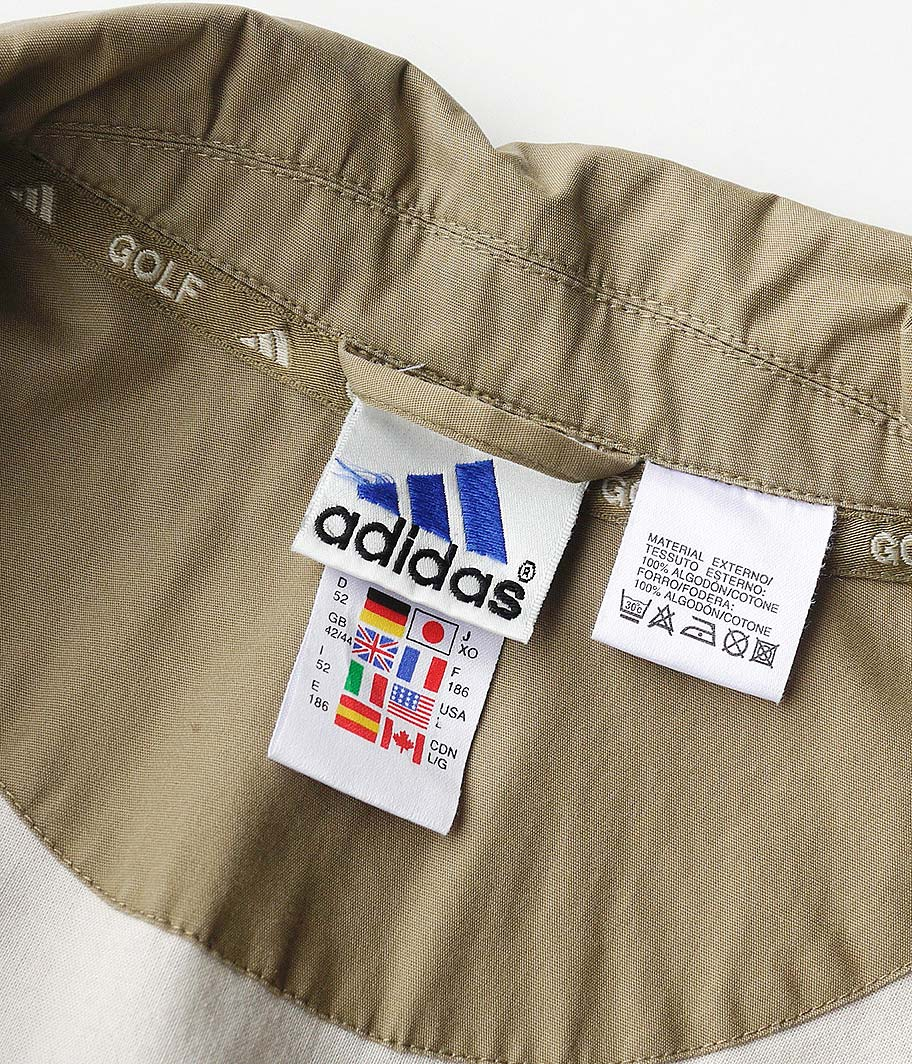 90's adidas ジップアップブルゾン
