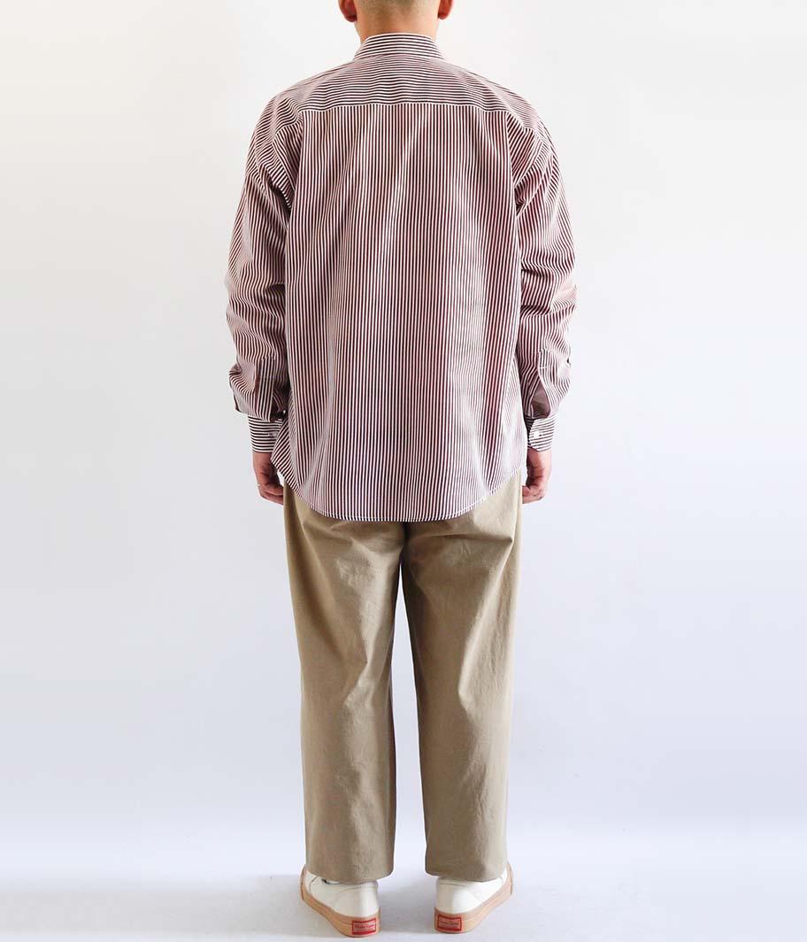 ユーロロングスリーブストライプシャツ