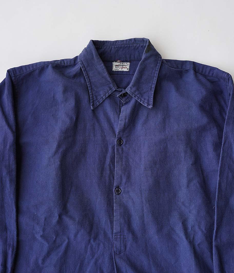 ビンテージフレンチプルオーバーロングシャツ