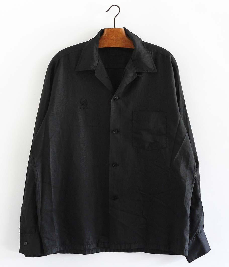TOWN CRAFT オールドオープンカラーシャツ  [Overdyed Black]