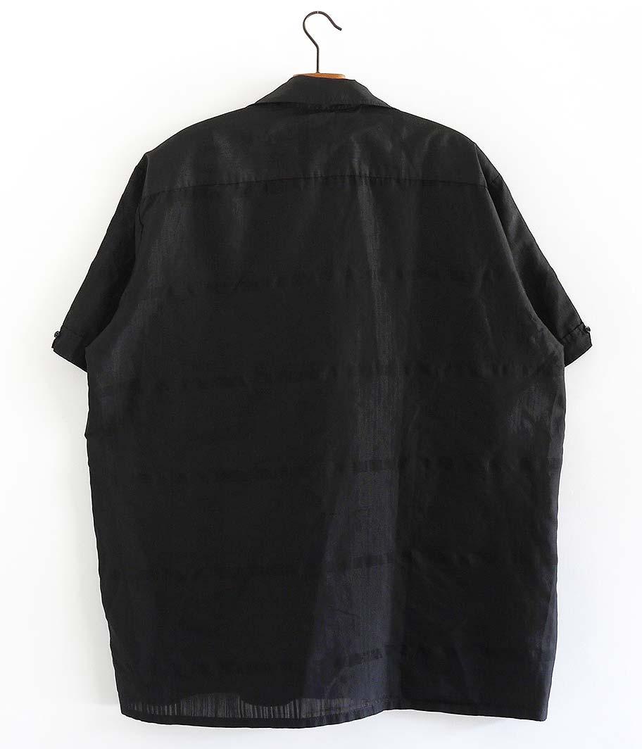 オールドオープンカラーシャツ  [Overdyed Black]