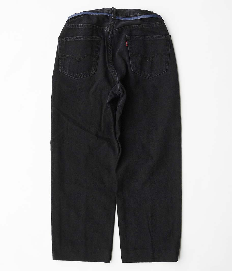 Customized by RADICAL Stitch Press EZ Denim Pants [BLACK]