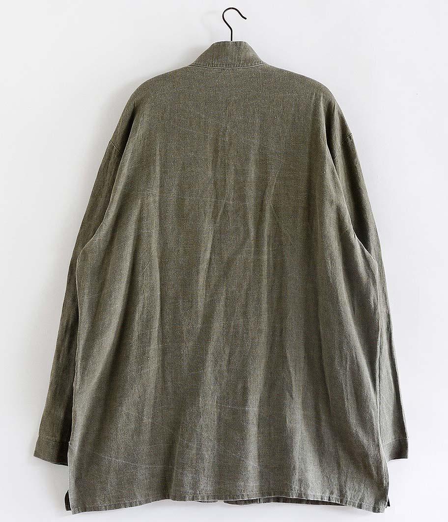 ユーロリネンスタンドカラーシャツジャケット