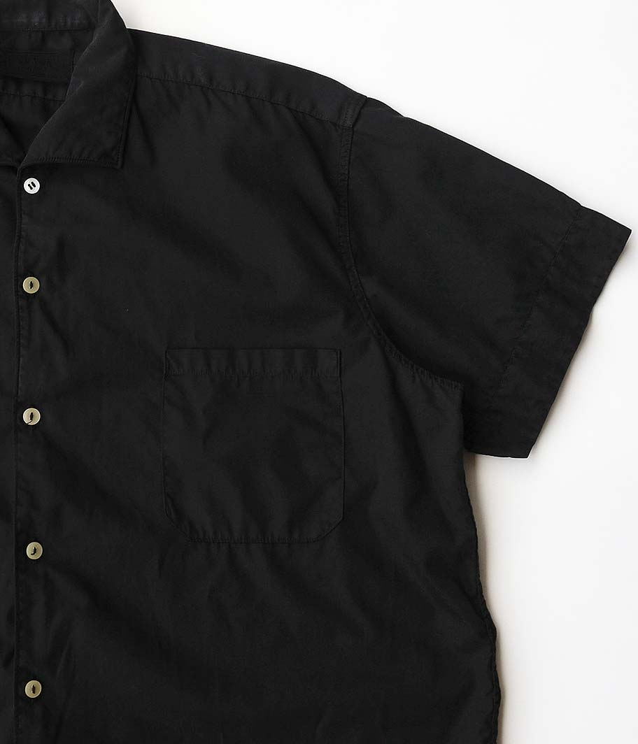 ユーロイタリアンカラーS/Sシャツ [Overdyed Black]