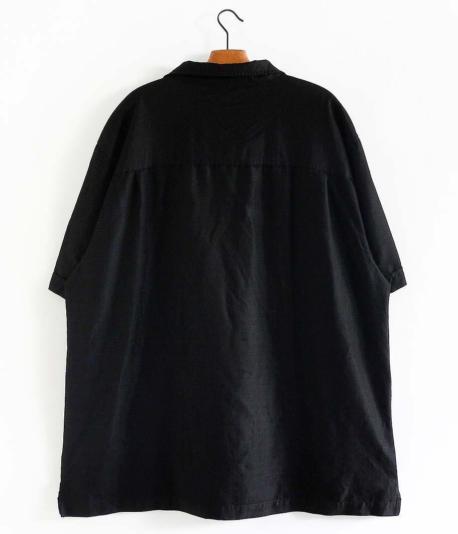 オープンカラーショートスリーブシャツ [Overdyed Black]