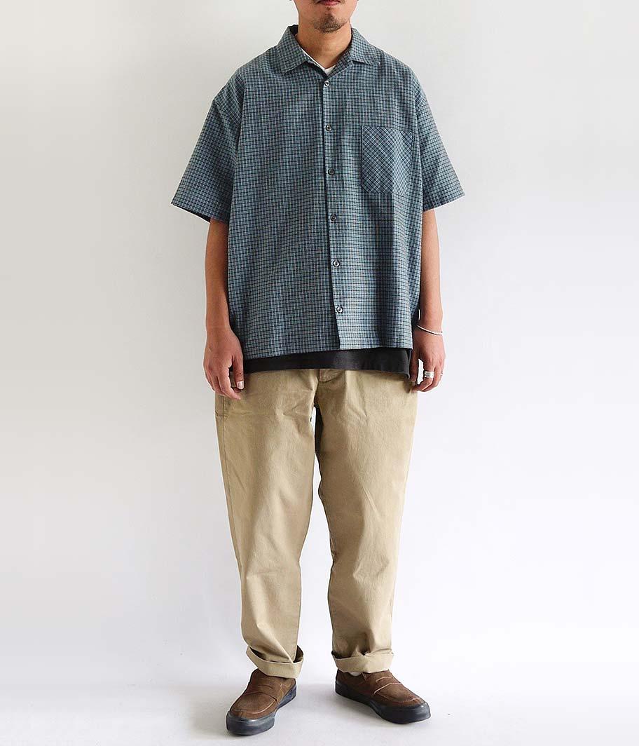 ユーロオープンカラーS/Sシャツ [Dead Stock / One Wash]