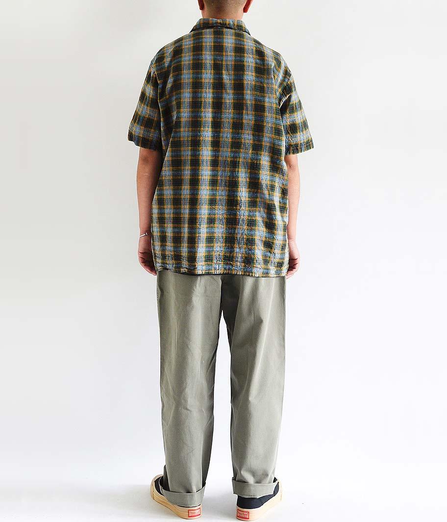ユーロイタリアンカラーS/Sシャツ [Dead Stock / One Wash]