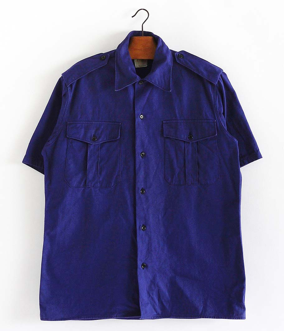 60's フランス軍ショートスリーブミリタリーシャツ [Dead Stock / One Wash]