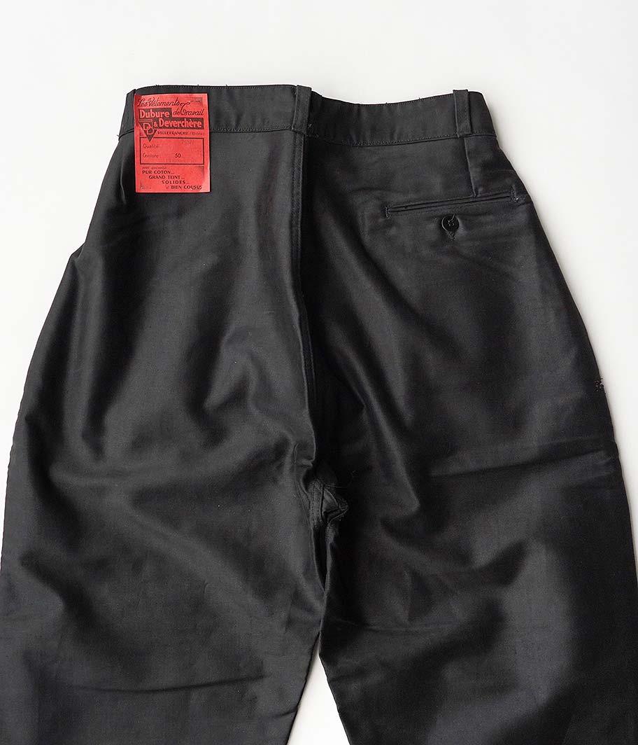 Customized by RADICAL 50's ブラックモールスキンフレンチワークパンツ[Dead Stock]