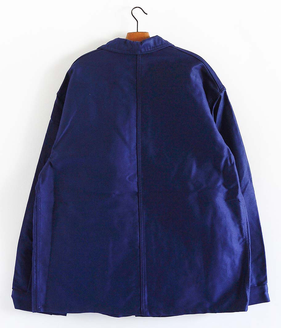 ブルーモールスキンフレンチワークジャケット [Dead Stock]
