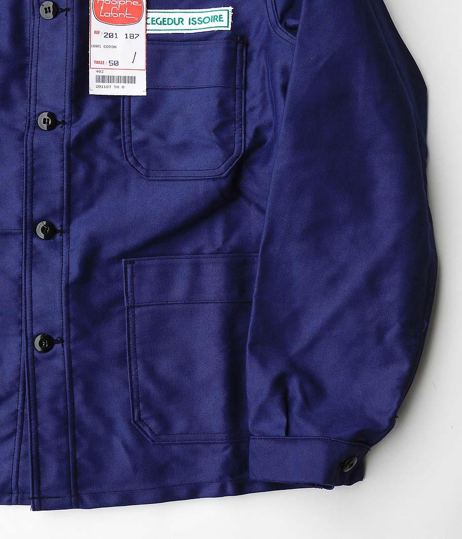 Adolphe Lafont ブルーモールスキンフレンチワークジャケット [Dead Stock]