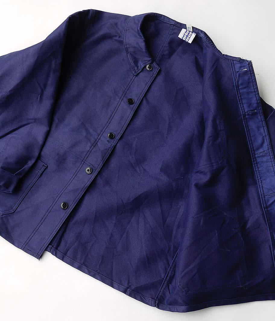 60's ブルーモールスキンフレンチワークジャケット [Dead Stock]