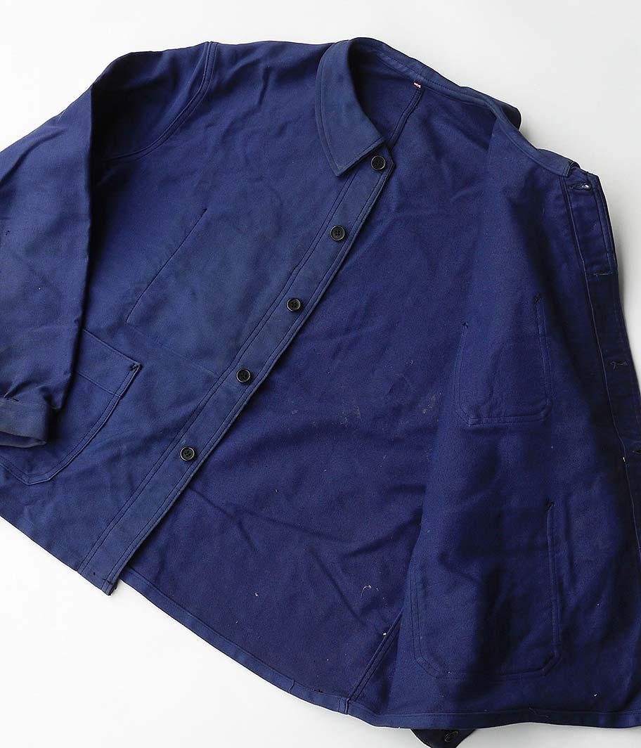 Adolphe Lafont ブルーモールスキンフレンチワークジャケット