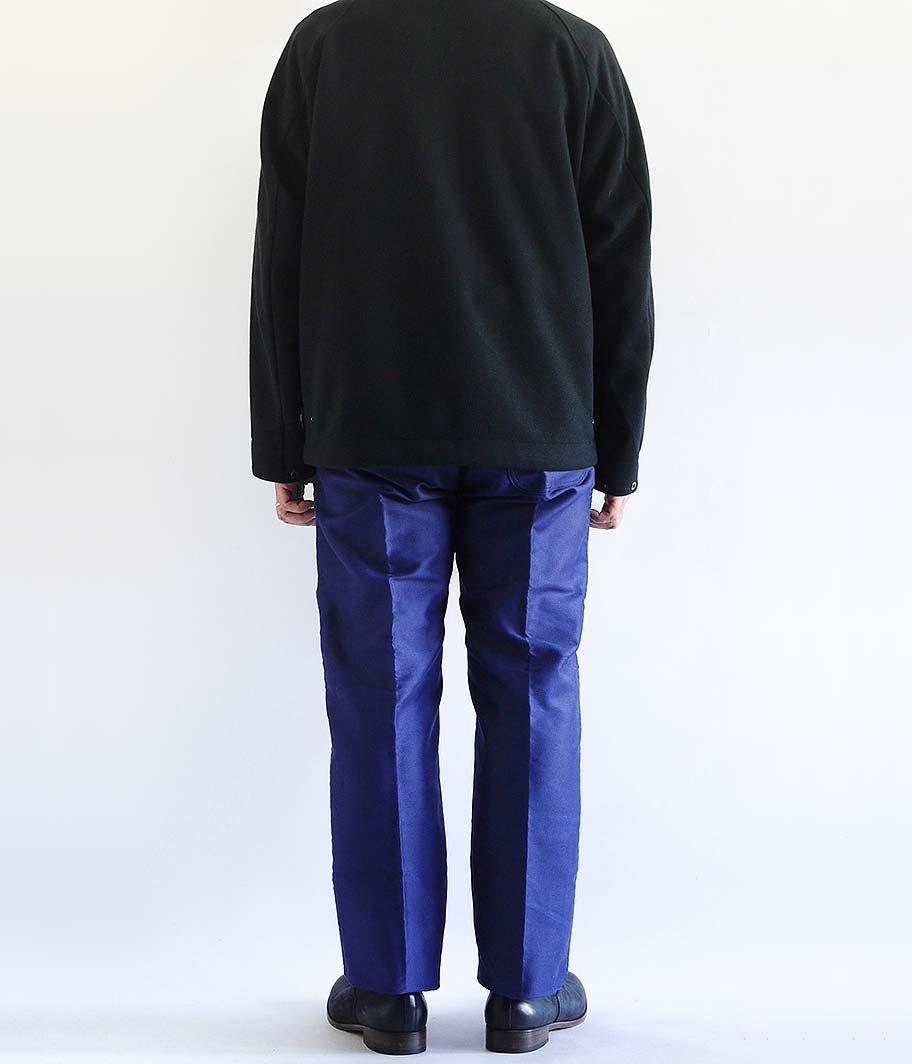 LE MONT ST MICHEL ブルーモールスキンフレンチワークパンツ [Dead Stock]