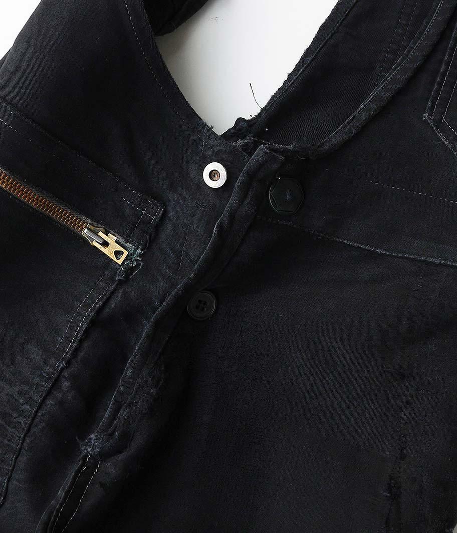 60's ブラックモールスキンフレンチワークオーバーオール