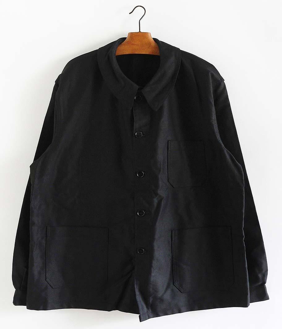 BEAU-FORT ブラックモールスキンフレンチワークジャケット[Dead Stock]